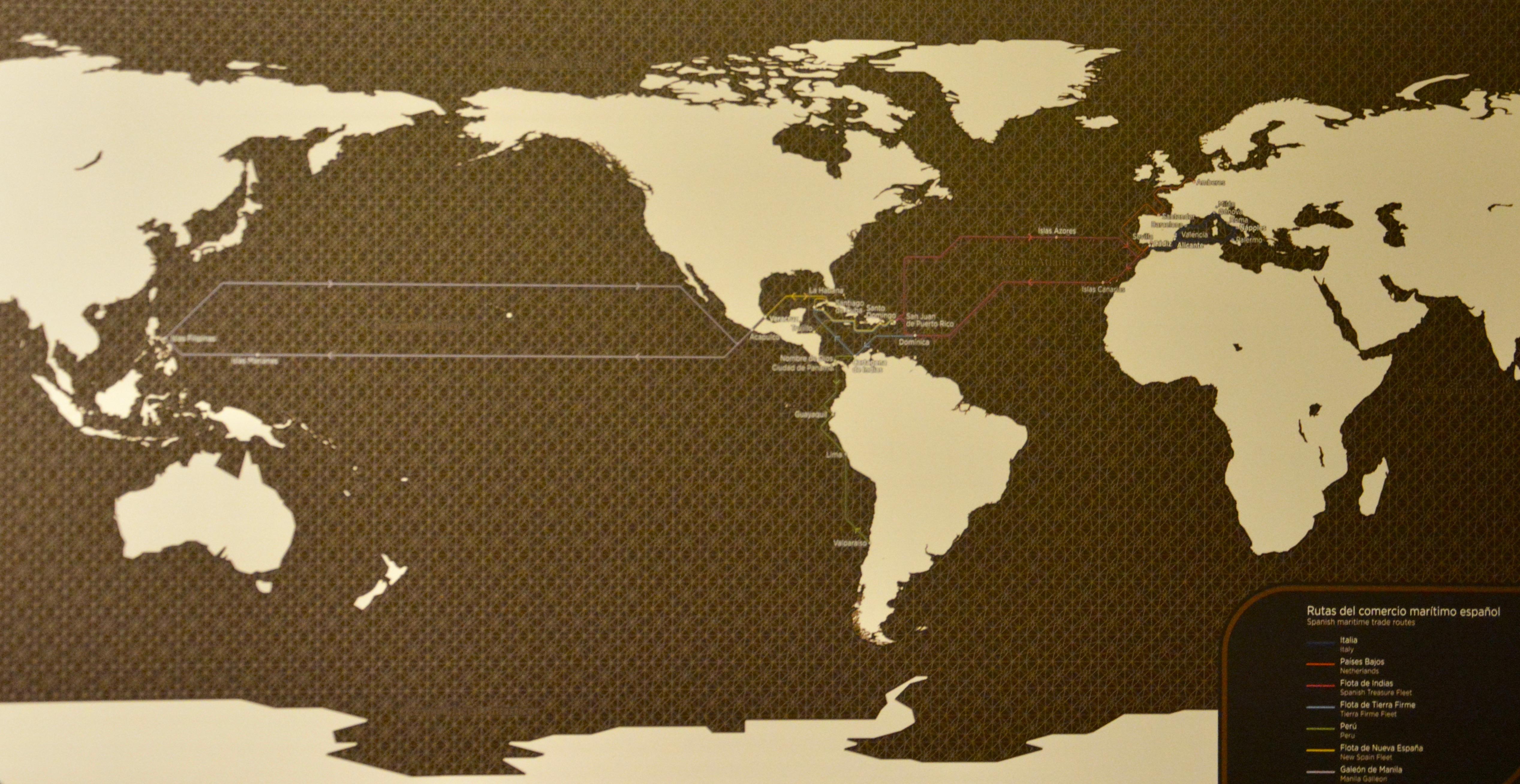 Rutas marítimas comerciales periodo colonial